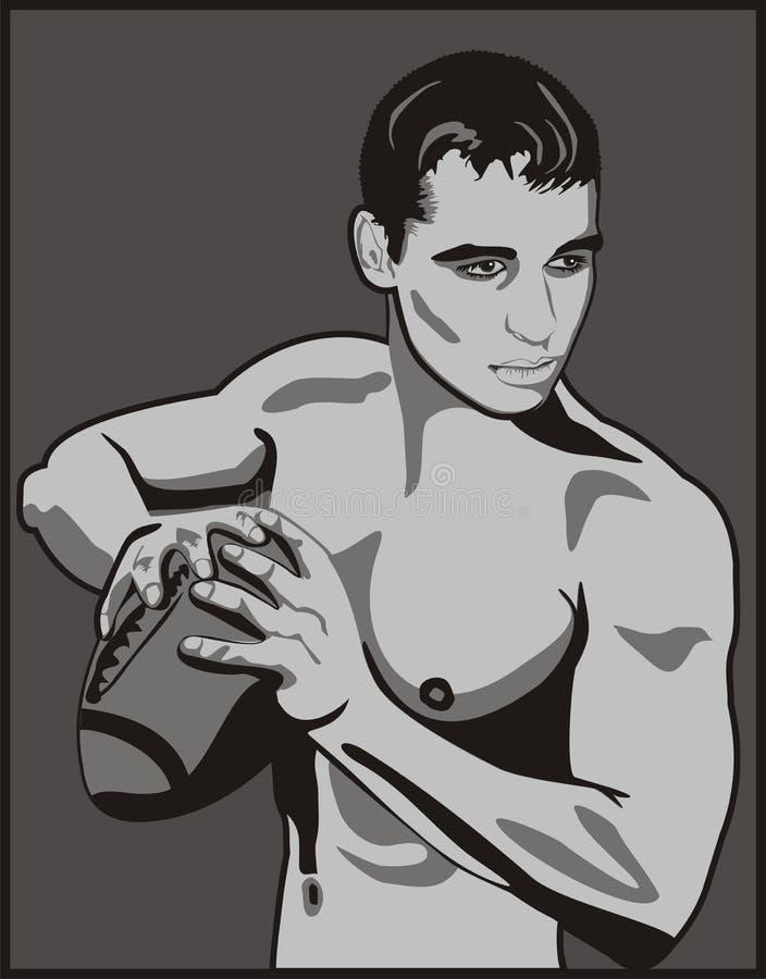 Sportif illustration libre de droits