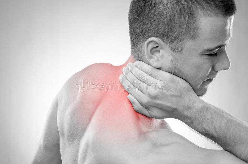 Sportif en douleur image stock