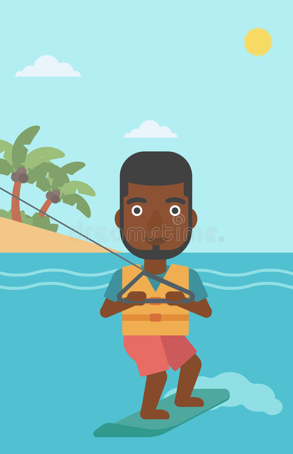 Sportif professionnel de wakeboard illustration libre de droits