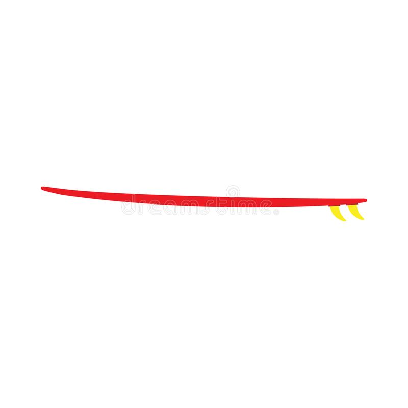 Sportifs extrêmes de mode de vie de planche de surf détendent l'aventure plate d'icône de vecteur de symbole illustration stock