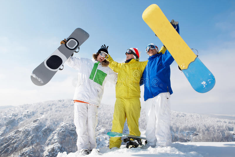 Sportifs joyeux images stock