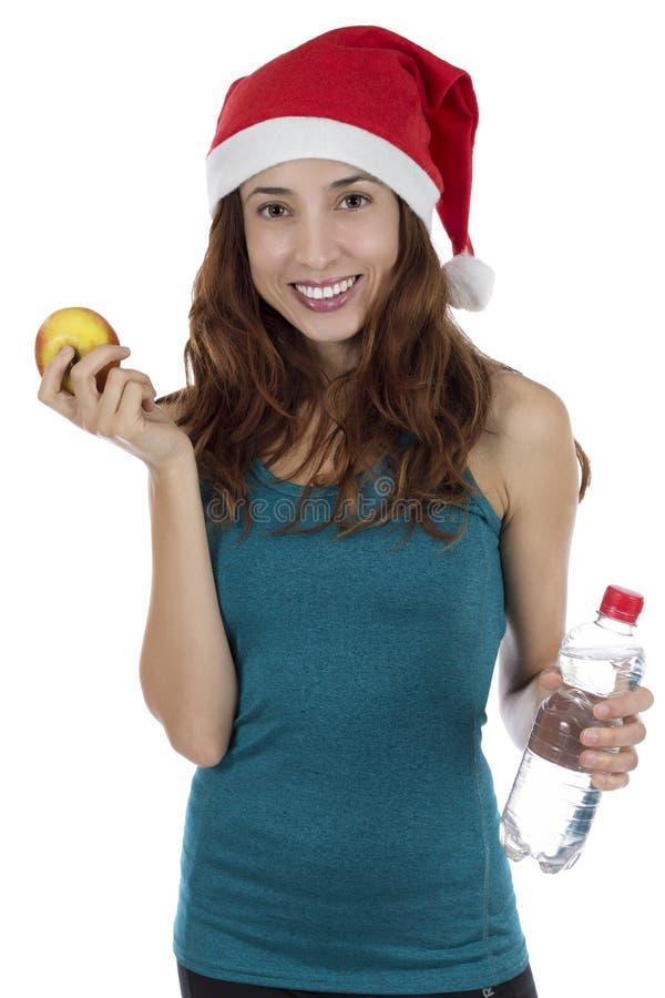 Sportig julkvinna royaltyfri foto
