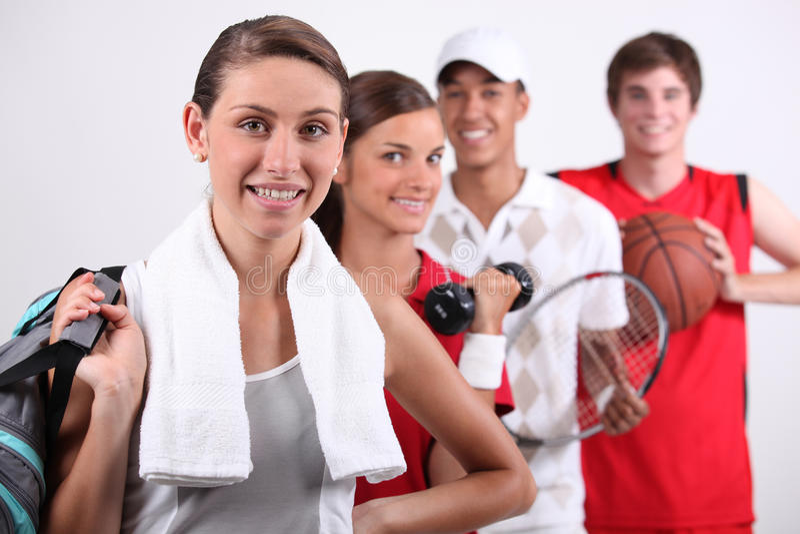 Sportigt folk royaltyfria bilder