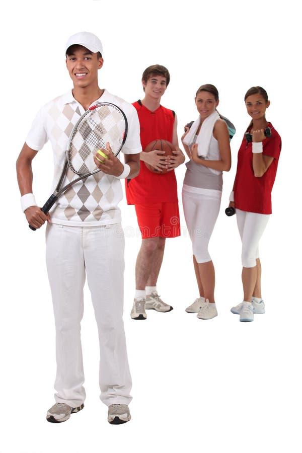 Sportigt folk fotografering för bildbyråer