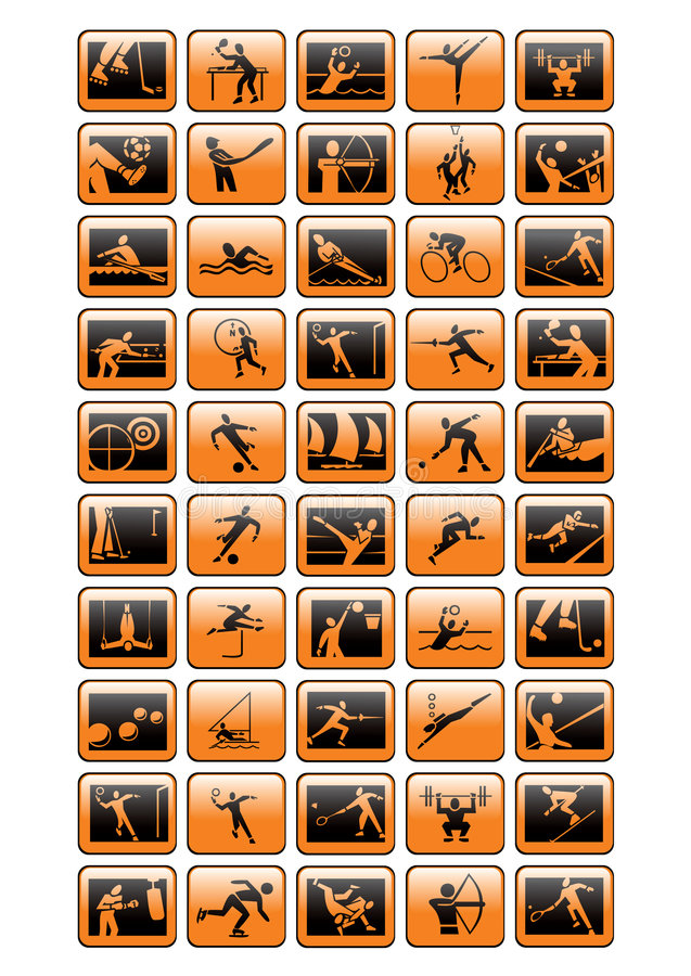 Sportikonensammlung - vecto stock abbildung