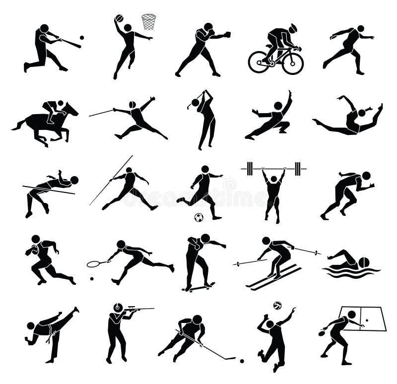 Sportikonensatz lizenzfreie abbildung