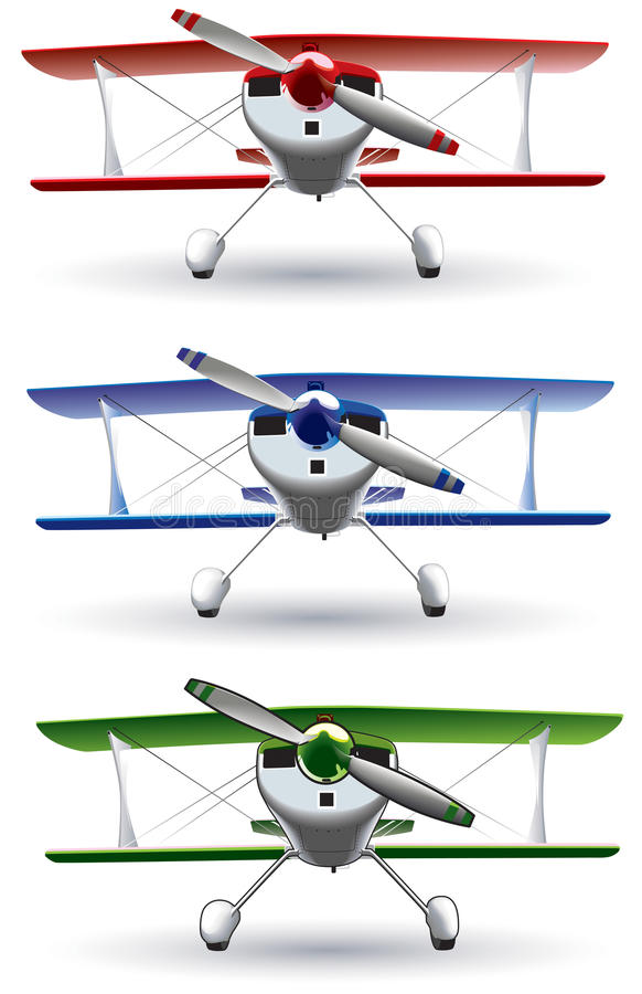 Download Sporting biplane front stock vector. Image of vessel - 22274558