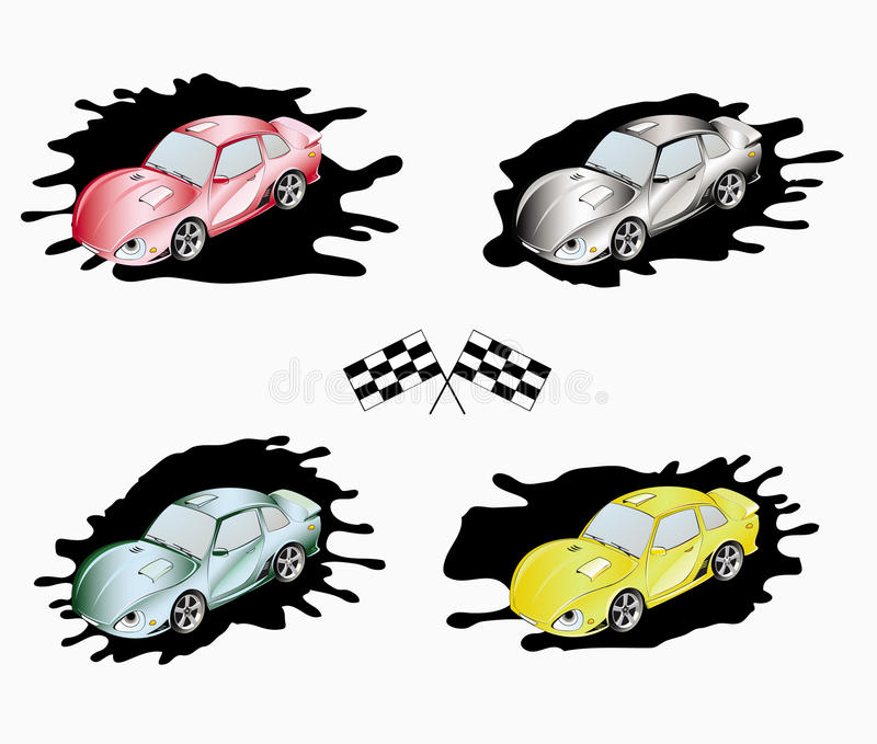 Download Sporting Cars Of Different Colors Stock Vector - Image: 10516538