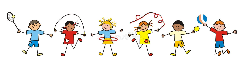 Sporting Children Stock Vector Illustration Of Movement 55135927