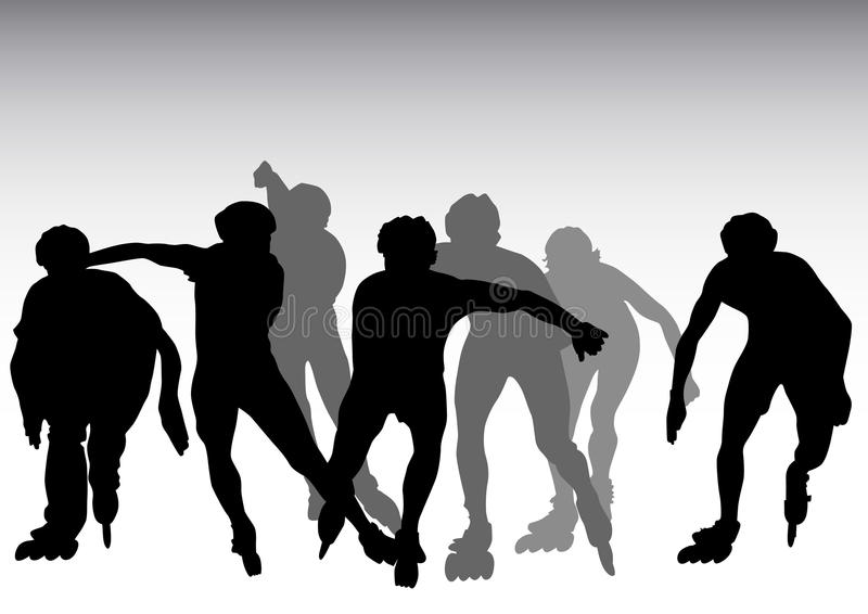 Download Sporting events stock vector. Image of pursuit, skating - 12021257