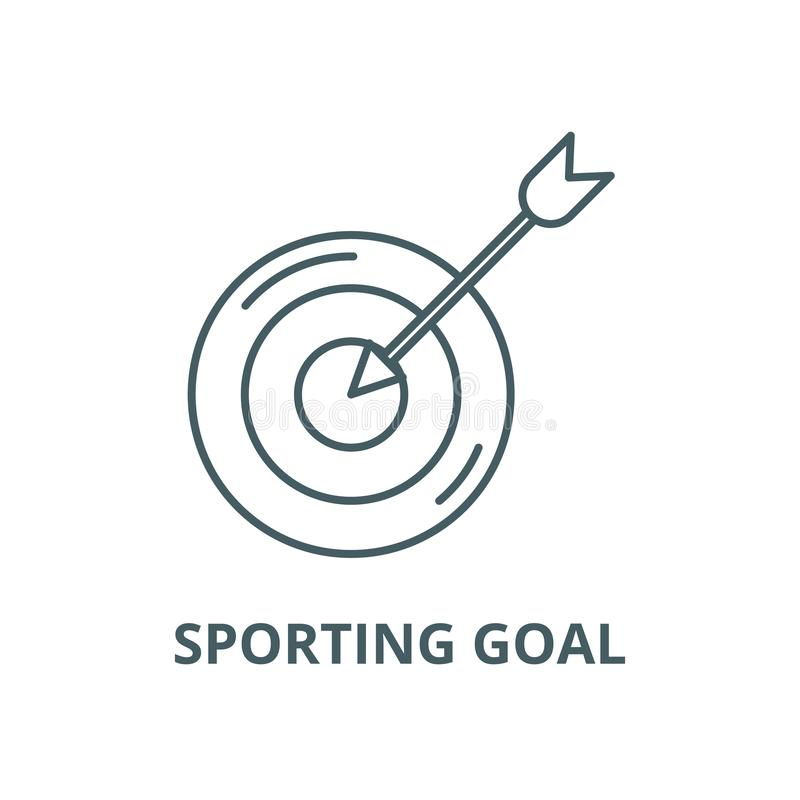 Sporting goal vector line icon, linear concept, outline sign, symbol royalty free illustration