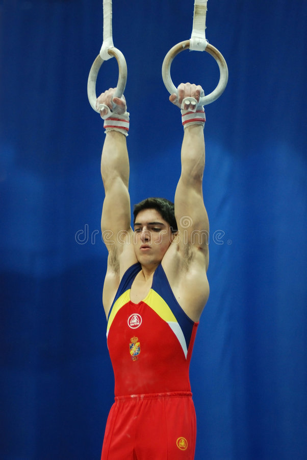 Sporting gymnastics stock images