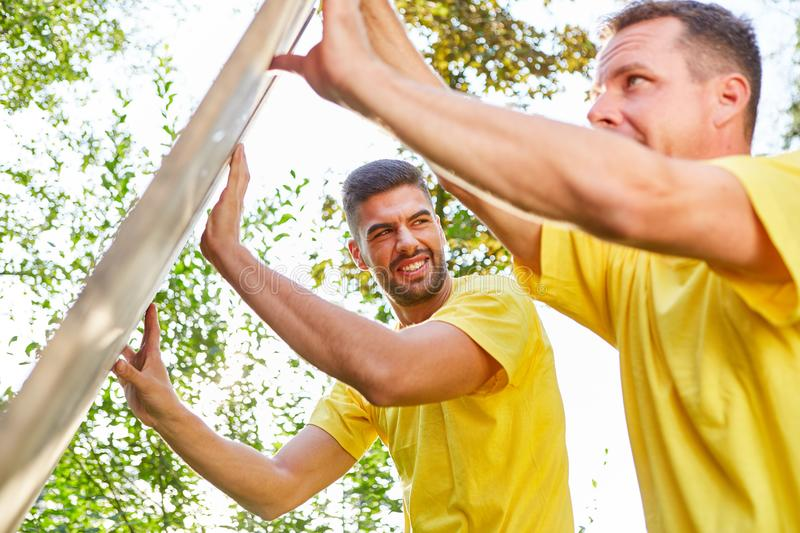Sporting team trains common strength stock image