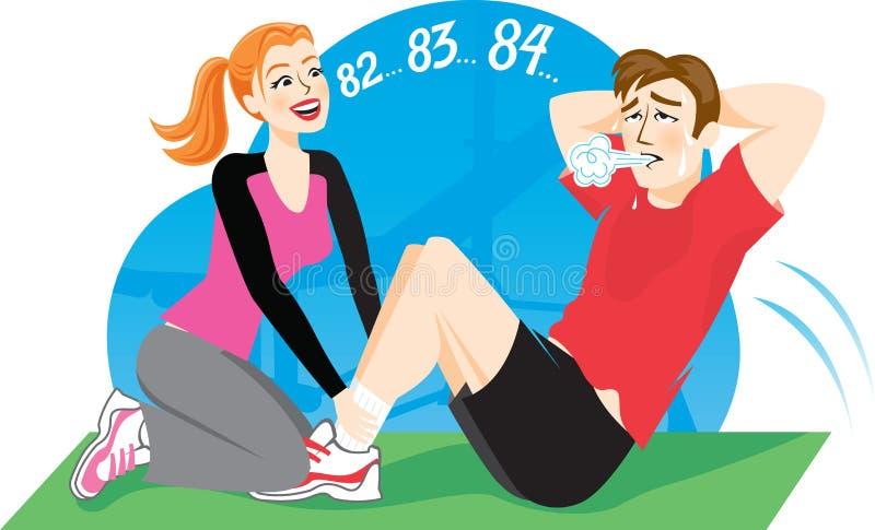 sportinstruktör stock illustrationer