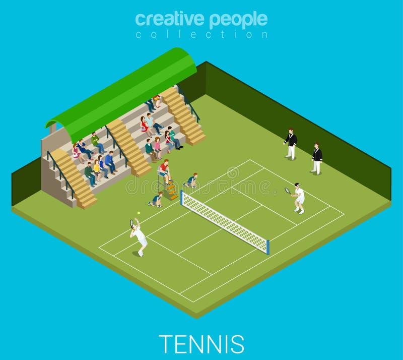 Sportinzameling: tennisspel stock illustratie