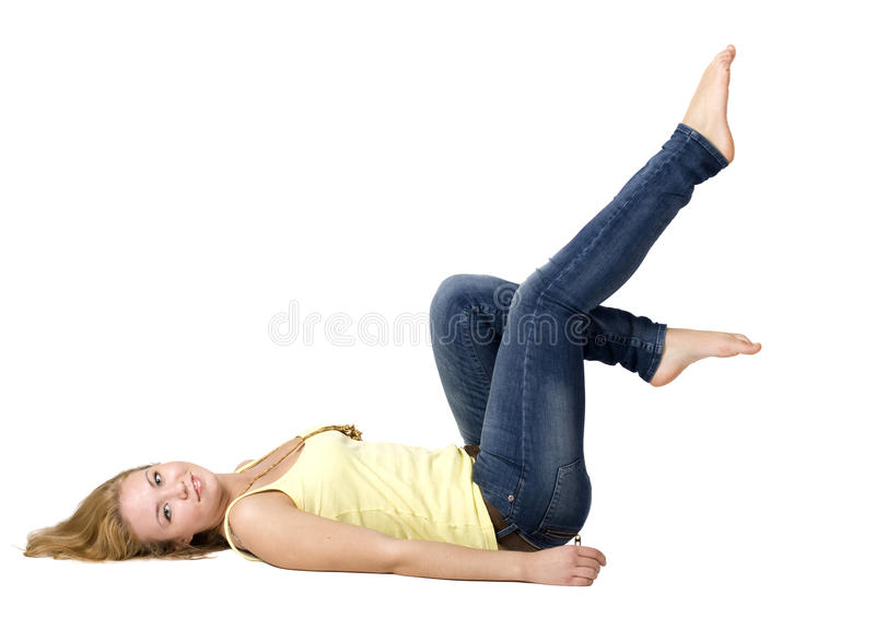 Download Sportive Girl Doing Exercises Stock Images - Image: 17079864