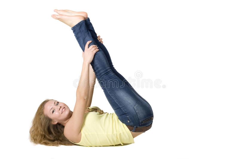 Download Sportive Girl Doing Exercises Stock Photo - Image: 17125564