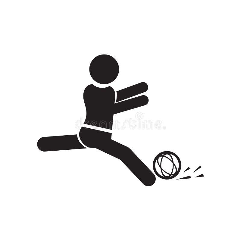 Sportive mężczyzna bawić się z znakiem odizolowywającymi na białym tle balowym ikona wektoru symbolem i, Sportive mężczyzna bawić royalty ilustracja