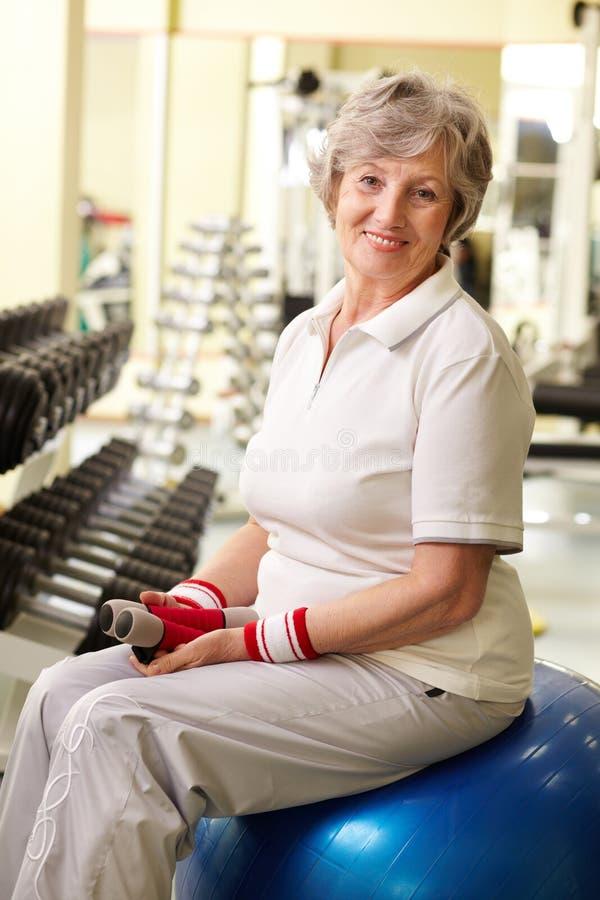 sportive pensionär royaltyfri bild