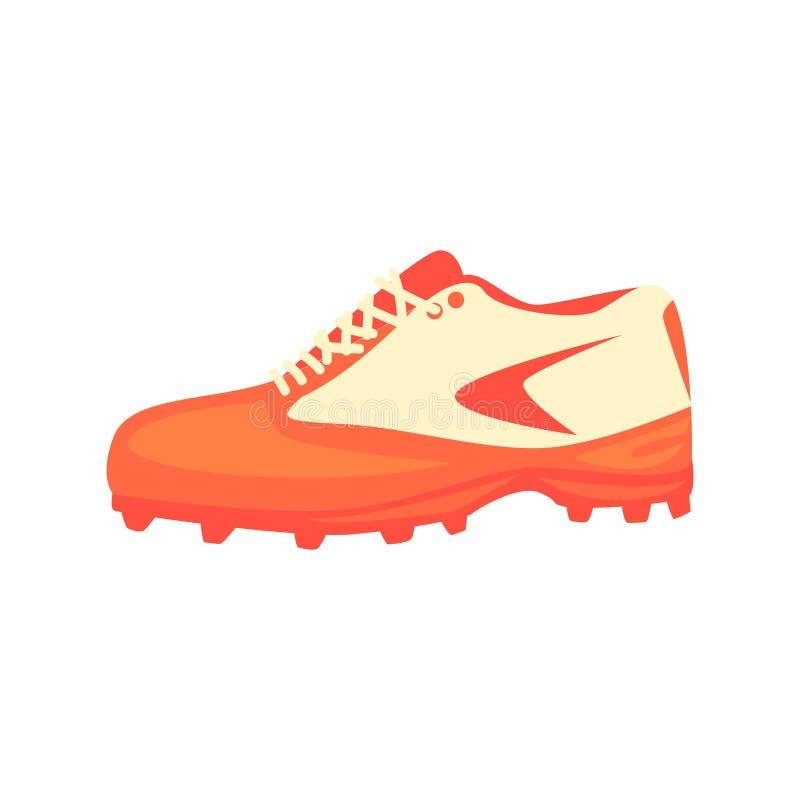 Sportive Sneakers Specjalny obuwie, część gracz baseballa amunicje I wyposażenie Ustawiający Odizolowywający przedmioty, ilustracji