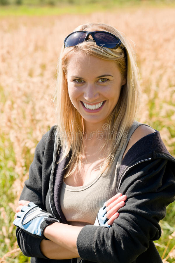 Download Sportive Young Woman Portrait Sunny Outdoor Stock Photo - Image: 21771318
