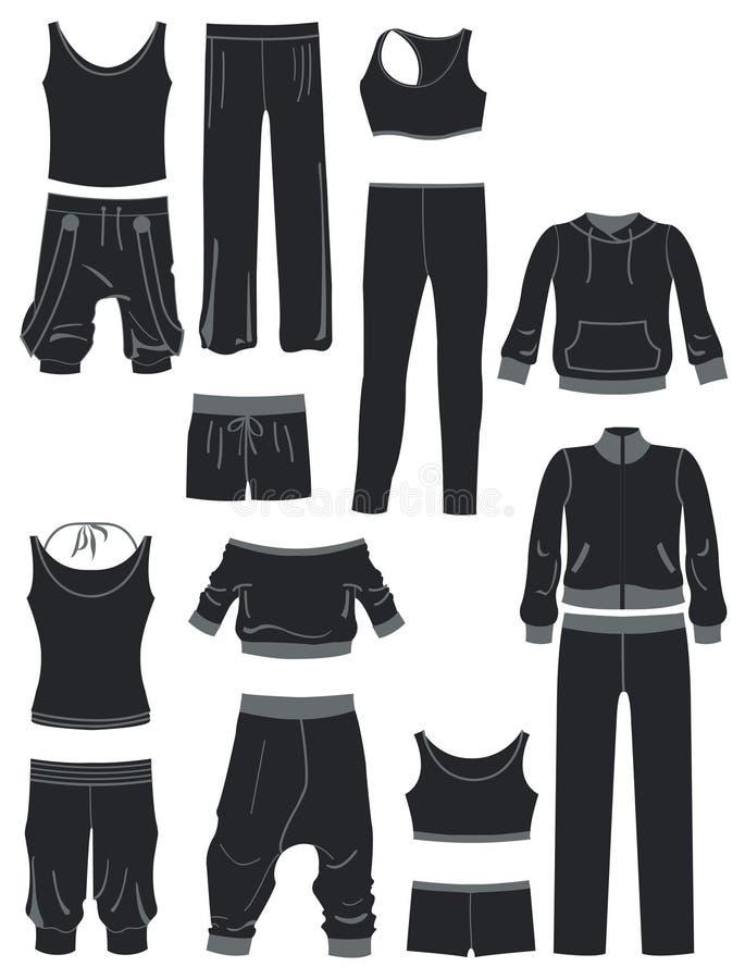Sportkleding vector illustratie