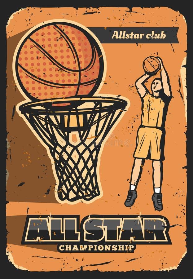 Sportklubba, bästa basketspelare vektor illustrationer