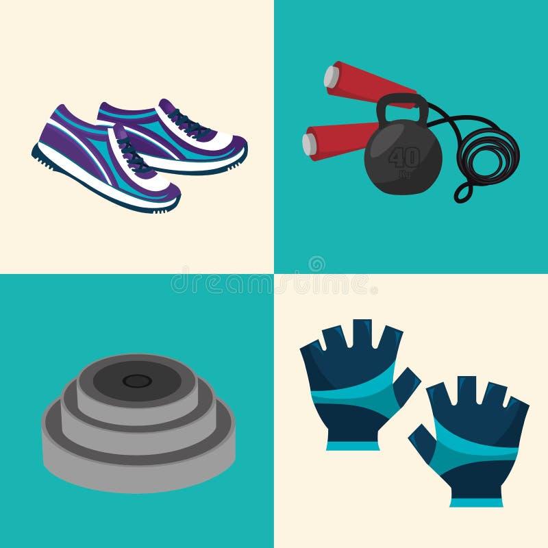 sportkonditiondesign vektor illustrationer
