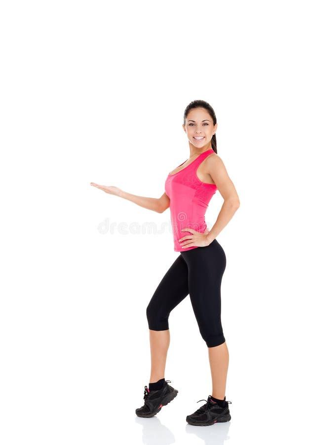 Sportkonditionkvinna royaltyfri fotografi