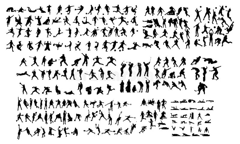 Sportkontur royaltyfri illustrationer