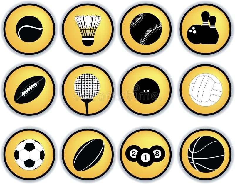 Sportkugel-Tastenset lizenzfreie abbildung