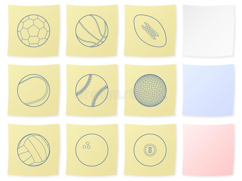 Sportkugelaufkleber vektor abbildung
