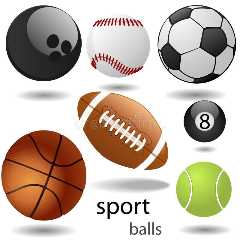 Sportkugeln lizenzfreie abbildung