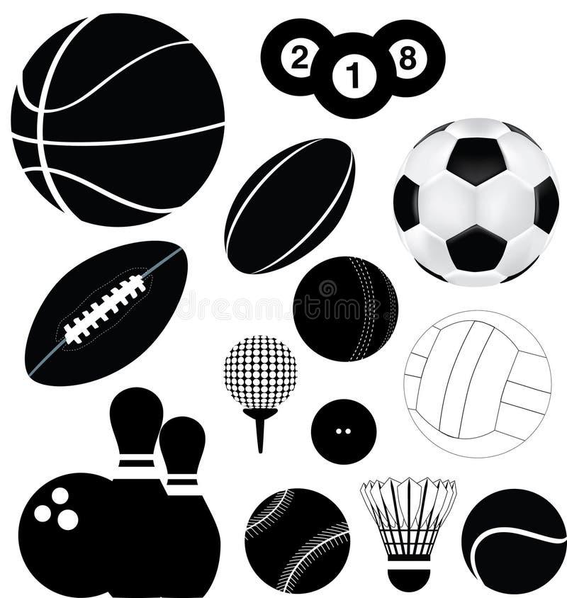 Sportkugeln eingestellt stock abbildung