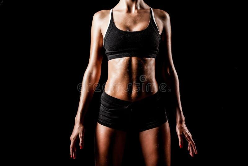 Sportkvinnakropp royaltyfri fotografi