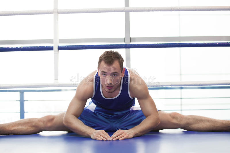 Sportleraufwärmen. lizenzfreie stockbilder