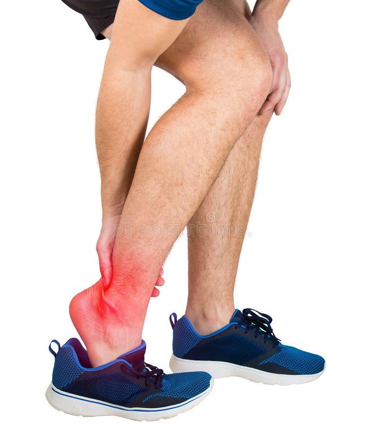 Sportlerleiden-Knöchelschmerz lizenzfreie stockbilder