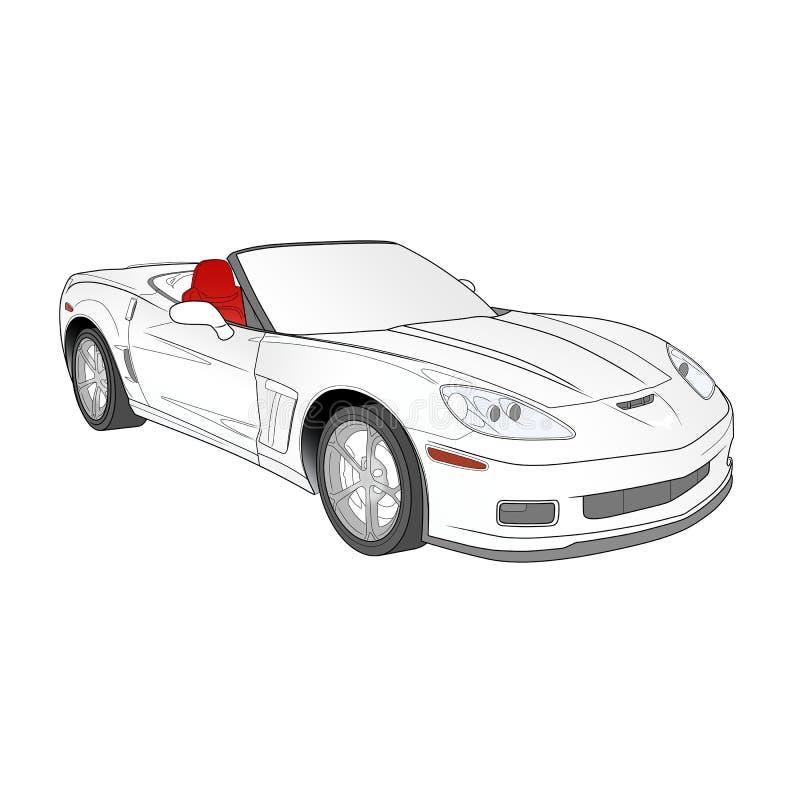 Sportliche Autoillustration lizenzfreies stockbild