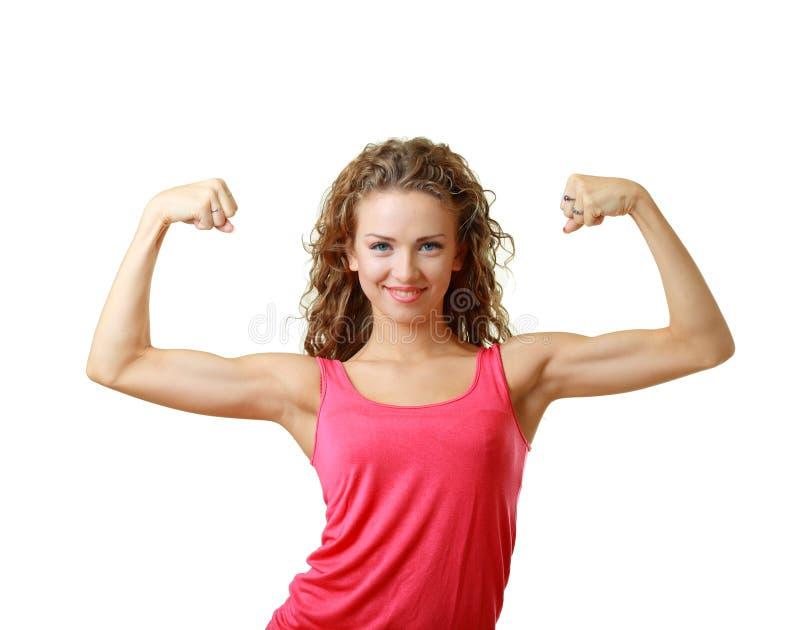 Sportliche junge Frau stockfoto