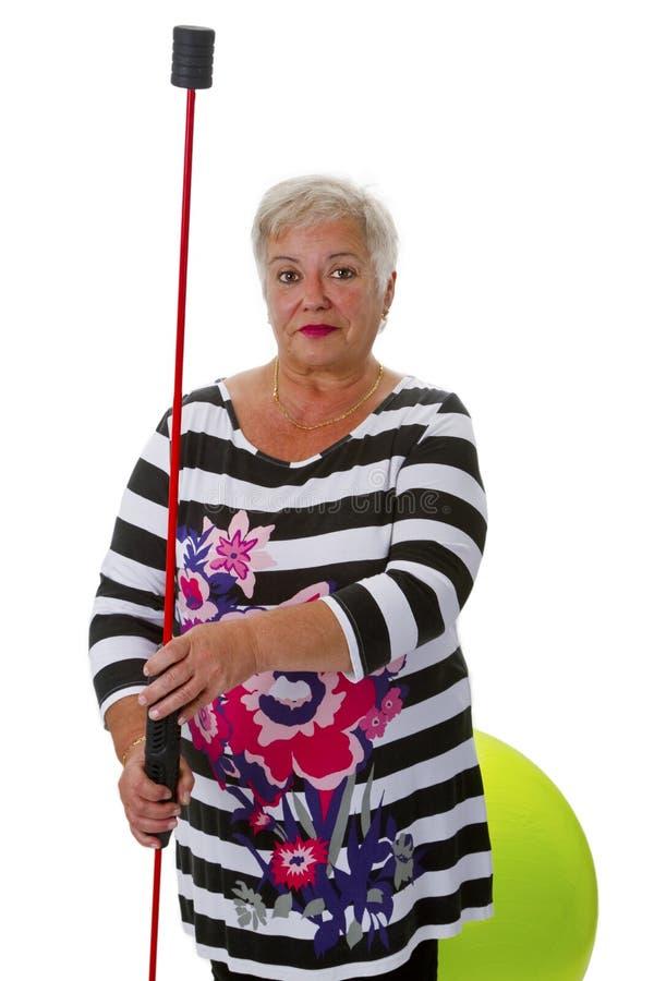 Sportlicher weiblicher Senior lizenzfreies stockbild