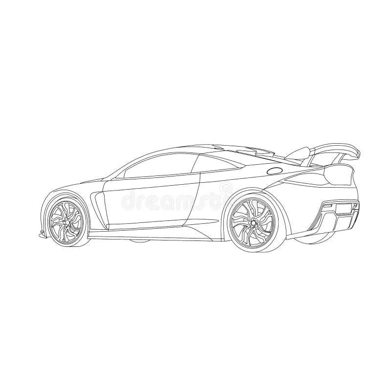 Sportliches Auto lizenzfreies stockfoto