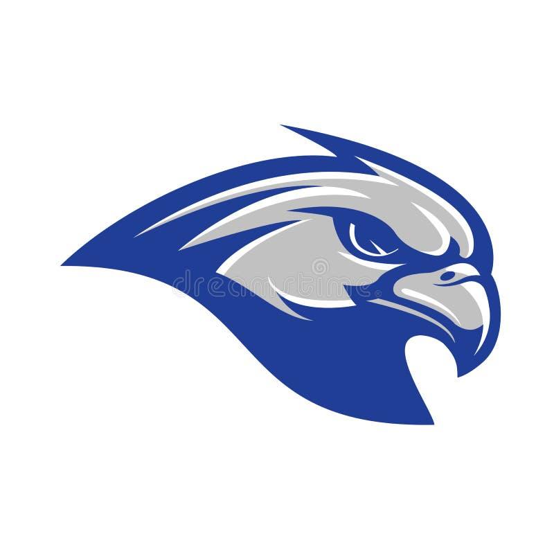 Sportliches Logohauptkonzept des Falken stock abbildung