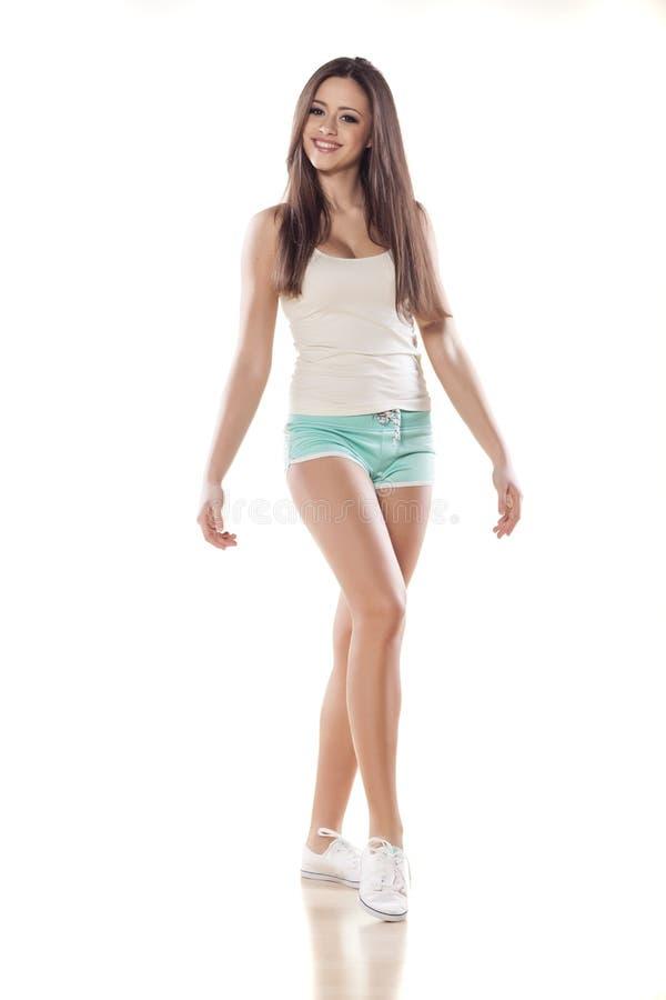 Sportliches Mädchen stockfoto