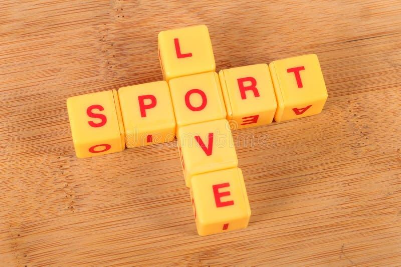 Sportliebe lizenzfreie stockbilder