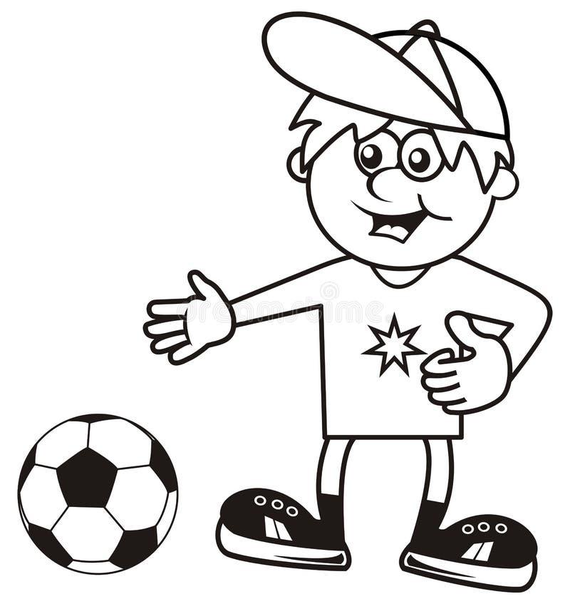 Sportman, kleurend boek royalty-vrije illustratie