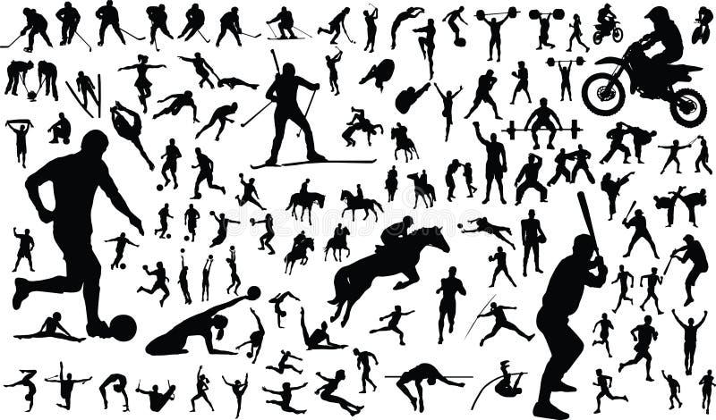 Sportmannen stock illustratie