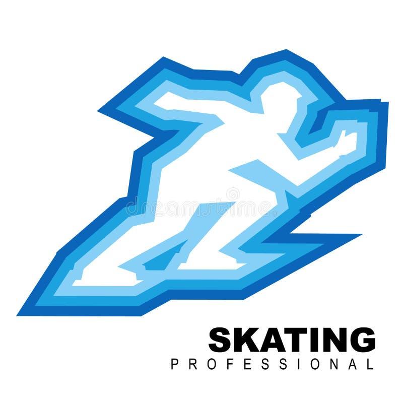 Sportmanritten snel op schaatsen stock illustratie