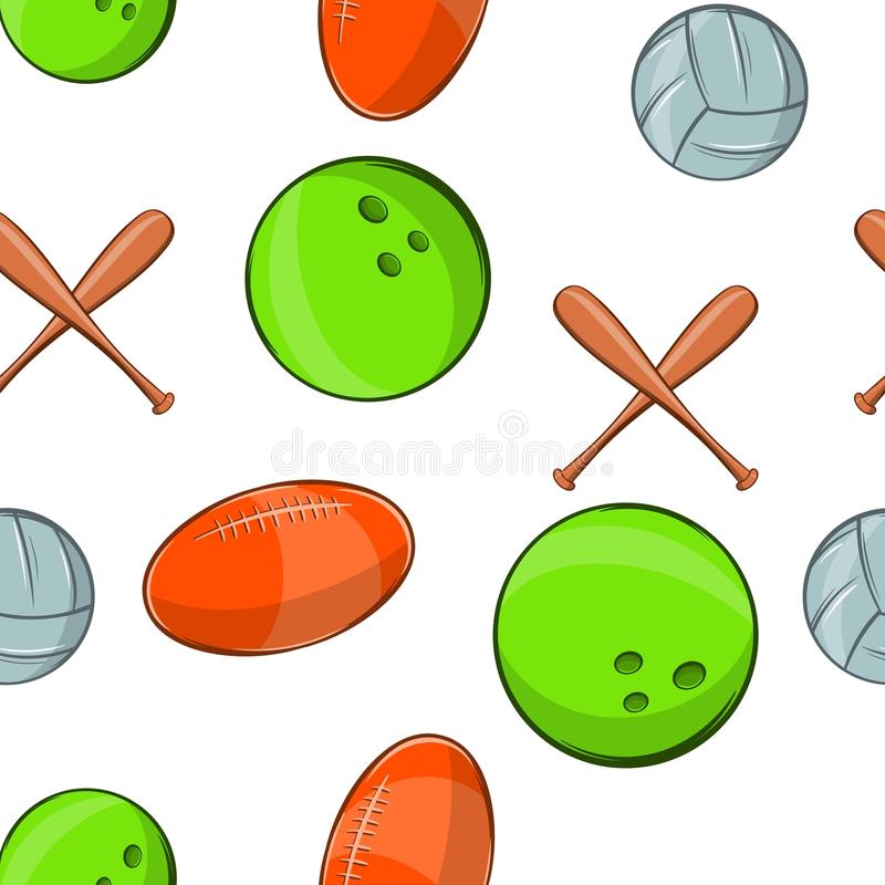Sportmaterialmuster, Karikaturart stock abbildung