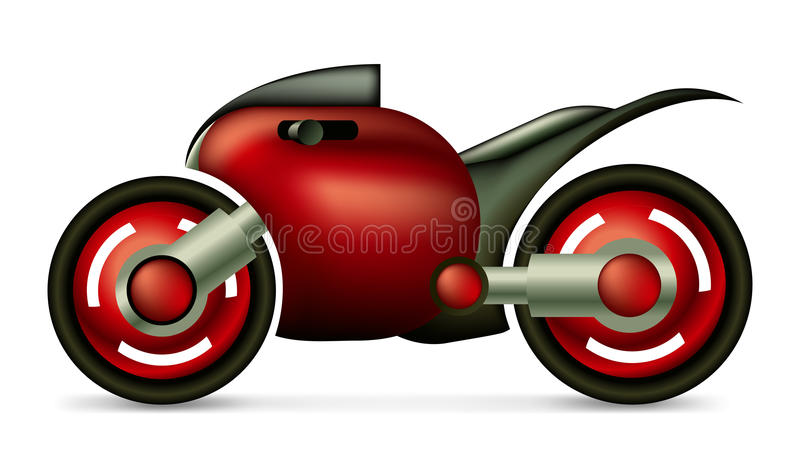 Sportmotorcykelbegrepp royaltyfri illustrationer