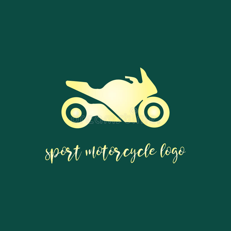 Sportmotorcykellogo royaltyfri illustrationer